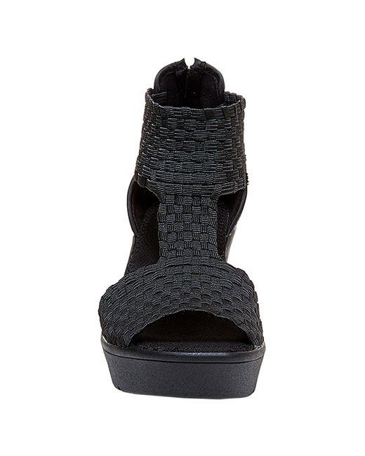 Steven by Steve Madden | Black Bengle Wedge Sandals | Lyst