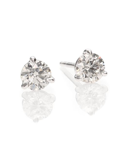 Kwiat | Metallic Diamond & Platinum Stud Earrings/1 Tcw | Lyst