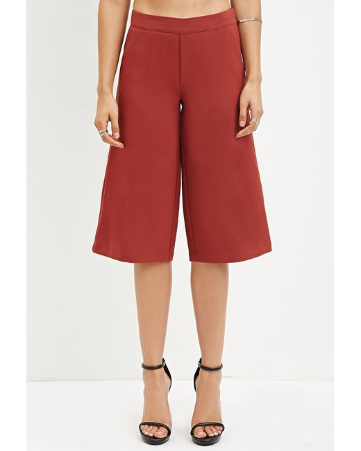 Forever 21 | Brown Classic Culottes | Lyst