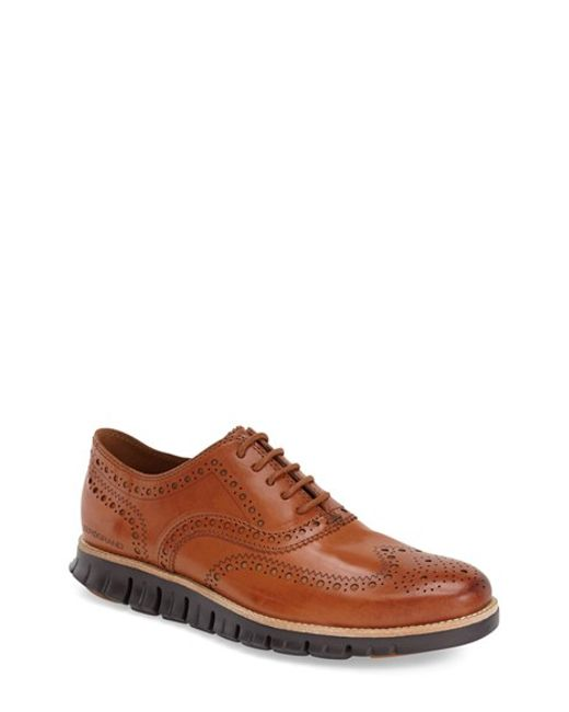 Cole Haan | Brown 'zerogrand' Wingtip Oxford for Men | Lyst
