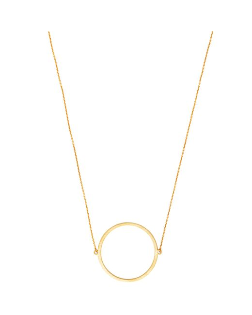 Dutch Basics | Metallic Circle Necklace Gold | Lyst