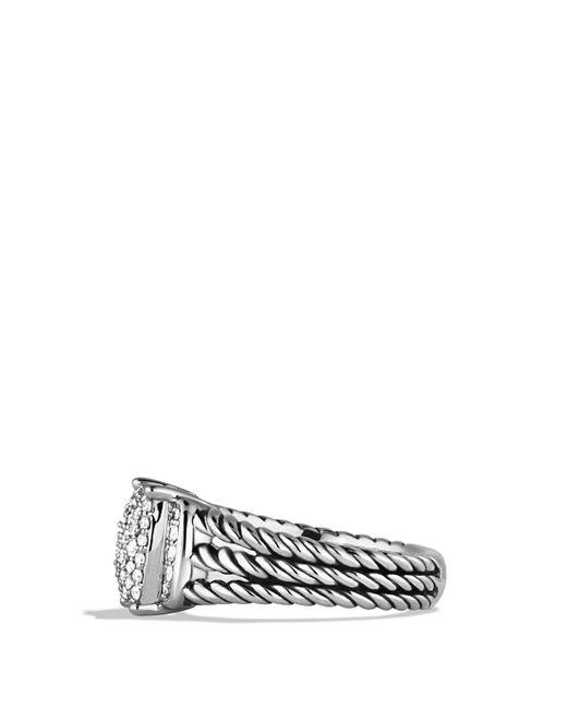 David Yurman   Metallic Petite Wheaton Ring With Diamonds   Lyst