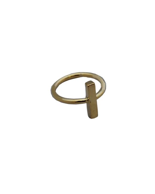 Adina Reyter | Metallic Bar Ring In Gold | Lyst