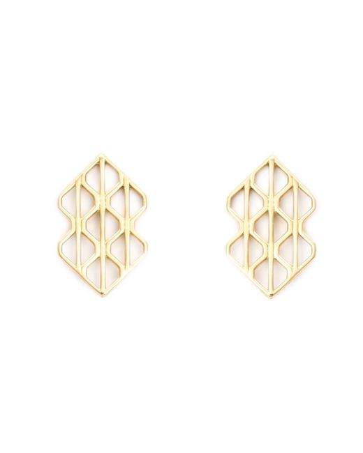 Luis Morais | Metallic 18kt Yellow Gold Large 'p3' Earrings | Lyst