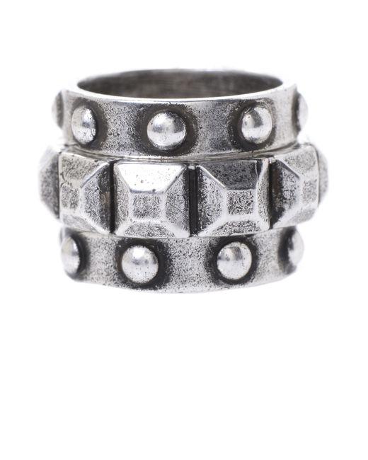 Jill Golden | Metallic Pyramid Stacking Rings | Lyst