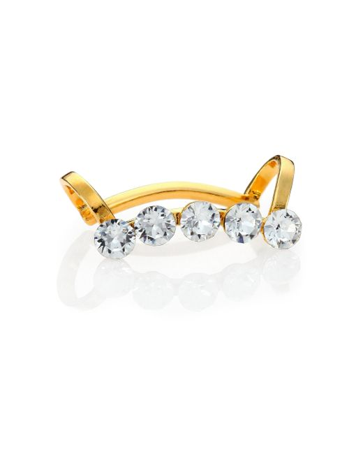 Ca&Lou   Metallic Edie Crystal Single Cuff Earring   Lyst