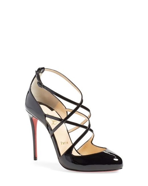 Christian louboutin Soustelissimo Crossover Patent Leather Pumps ...