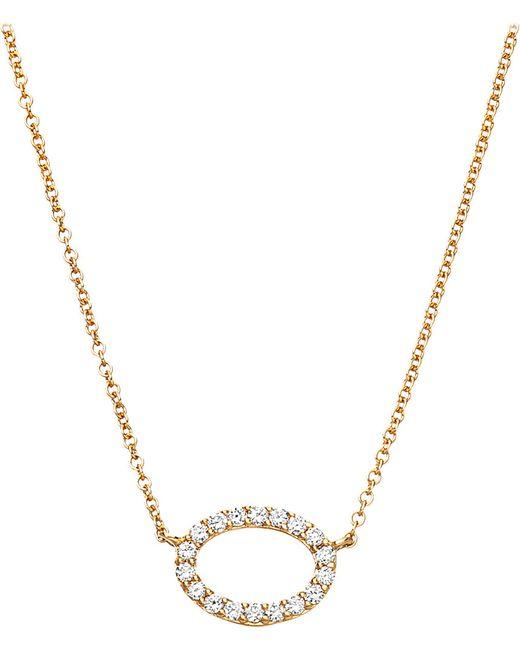 Astley Clarke   Metallic 14ct Yellow Gold Halo Diamond Pendant   Lyst