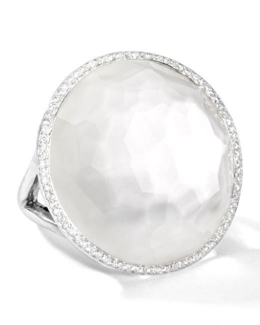 Ippolita | White Stella Large Lollipop Ring In Mother-of-pearl Doublet With Diamonds | Lyst