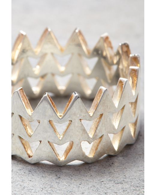 Forever 21 | Metallic Makko Stacked Arrow Ring | Lyst