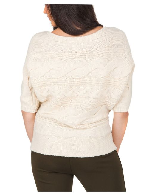 Jane Norman | Natural Batwing Cable Jumper | Lyst