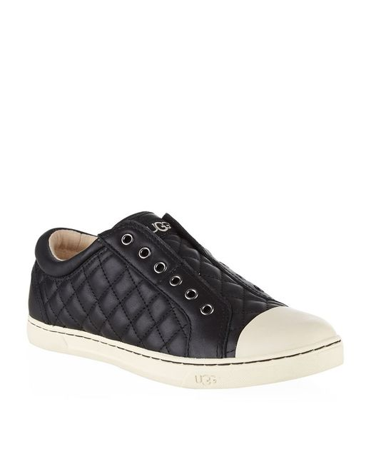 ugg black jemma quilted sneaker lyst