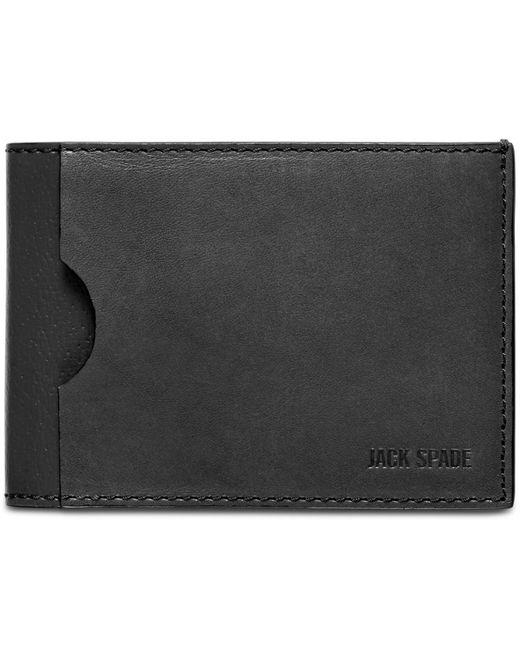 Jack Spade | Black Grant Leather Index Wallet for Men | Lyst