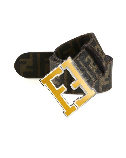 Fendi | Brown Logo College Canvas Belt for Men | Lyst