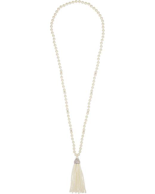 Kenneth Jay Lane | White Horn Pendant Necklace | Lyst