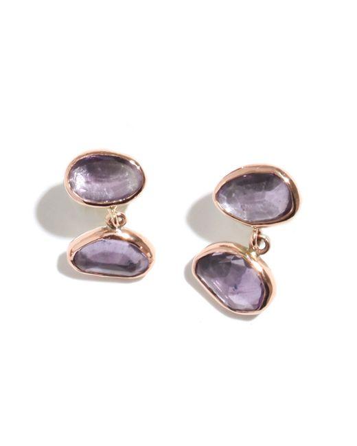 Melissa Joy Manning   Purple Amethyst Drop Earrings   Lyst
