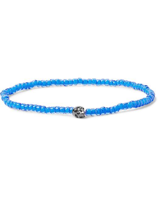 Luis Morais | Blue Puzzle White Gold Beaded Bracelet for Men | Lyst