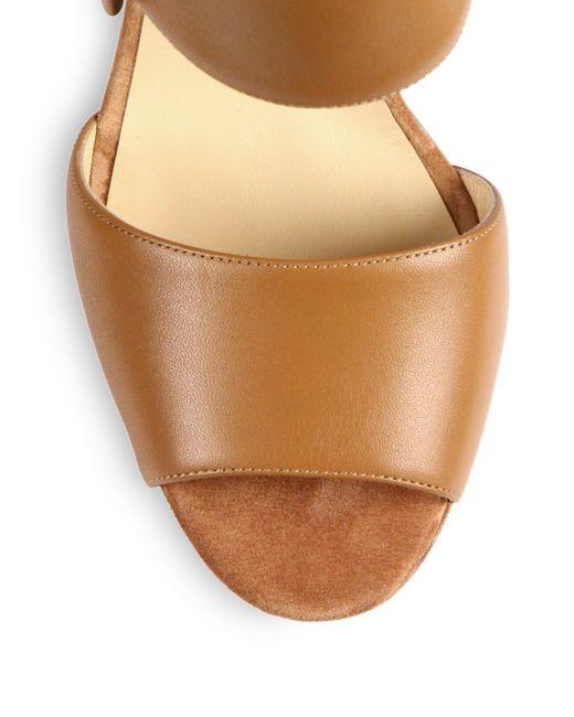Christian louboutin Haute Retenue Leather Platform Sandals in ...