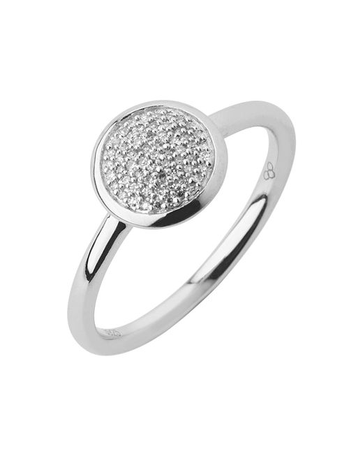 Links of London | Metallic Diamond Essentials Pave Ring - Ring Size N | Lyst