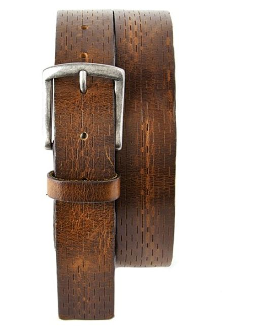 Trafalgar | Brown 'gabe' Leather Belt for Men | Lyst