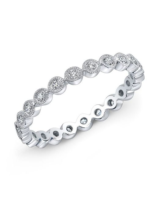 Anne Sisteron - Metallic 14kt White Gold Bezel Set Diamond Ring - Lyst