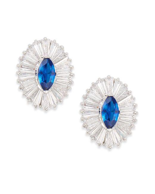 CZ by Kenneth Jay Lane | Blue Ballerina Marquis Stud Earrings | Lyst