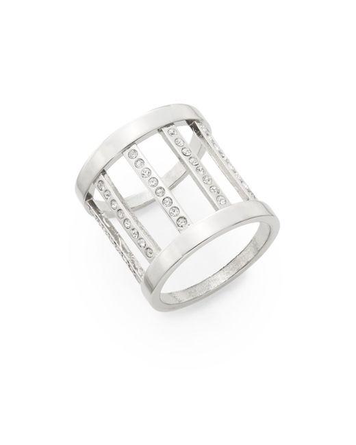 Vita Fede | Metallic Pandora Crystal Ring/silvertone for Men | Lyst