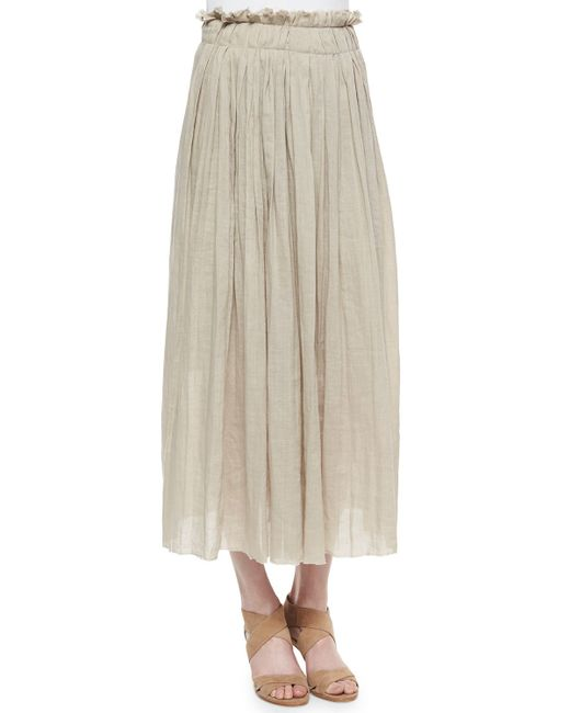 Elie Tahari | Natural Luna Pleated Maxi Skirt | Lyst