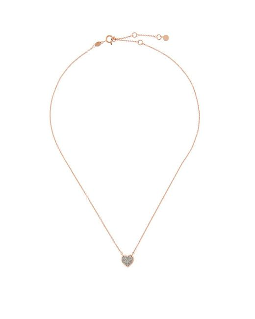 Links of London | Metallic Diamond Essentials Pavã© Diamond Heart Necklace | Lyst