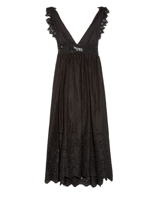 Zimmermann | Black Alchemy Flutter Eyelet-Lace Dress | Lyst