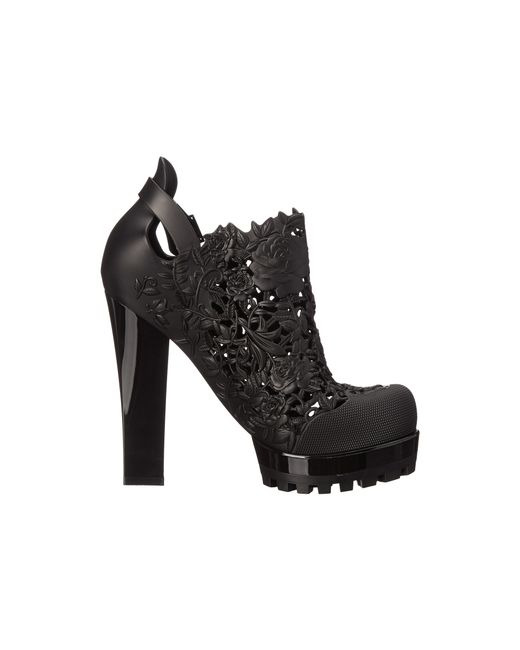 Melissa | Black Ah Flower Boot | Lyst