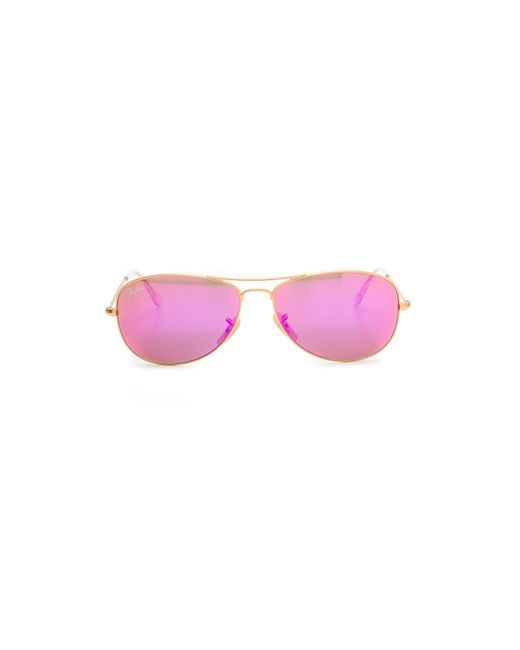 Ray-Ban | Pink Mirrored Shrunken Aviator Sunglasses | Lyst