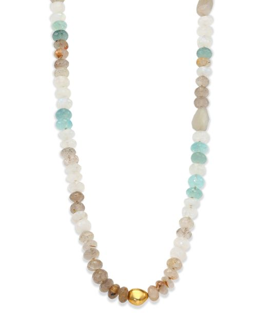 Lena Skadegard | Metallic Dunna Cielo Semi-precious Multi-stone & 18k Yellow Gold Beaded Strand Necklace | Lyst
