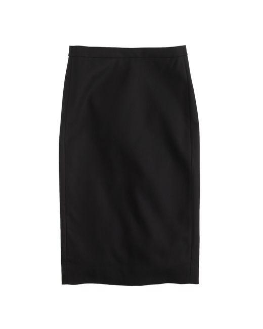 J.Crew   Black Director Pencil Skirt In Super 120s Wool   Lyst