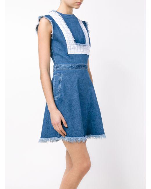 House Of Holland Bib Denim Dress Blue In Blue Save 81 Lyst
