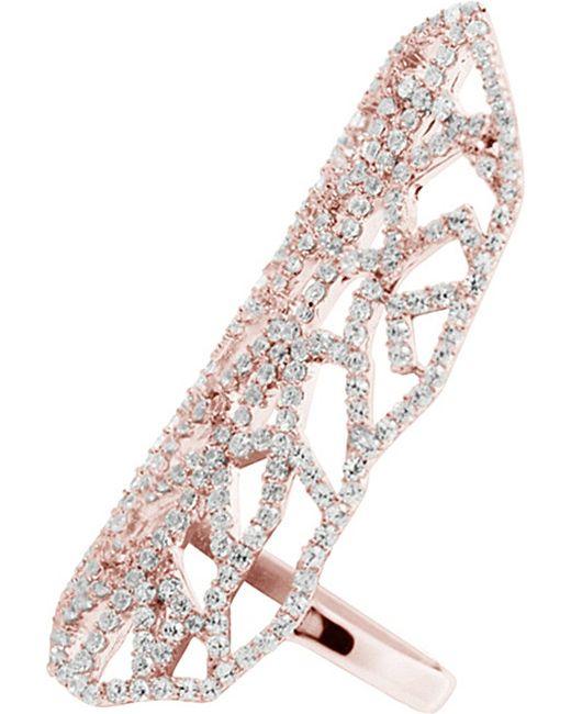 Carat* | Pink Indira Heroines Rose Gold Finish Ring | Lyst