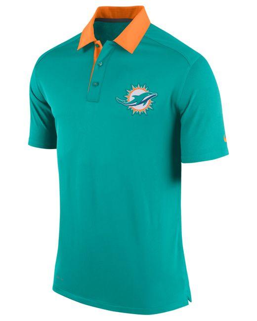 Nike Men 39 S Miami Dolphins Elite Coaches Polo In Green For