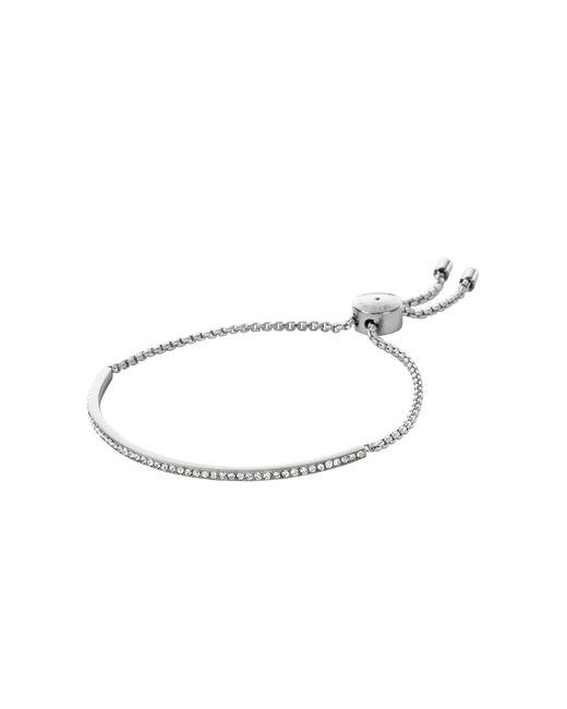 Michael Kors | Metallic Pavé Silver-tone Bracelet | Lyst