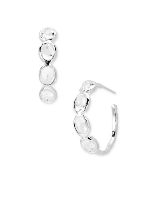 Ippolita | Metallic 'rock Candy - Number 2' 4-stone Hoop Earrings | Lyst