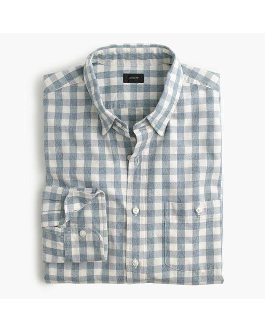 J.Crew | Blue Jaspé Cotton Shirt In Gingham for Men | Lyst