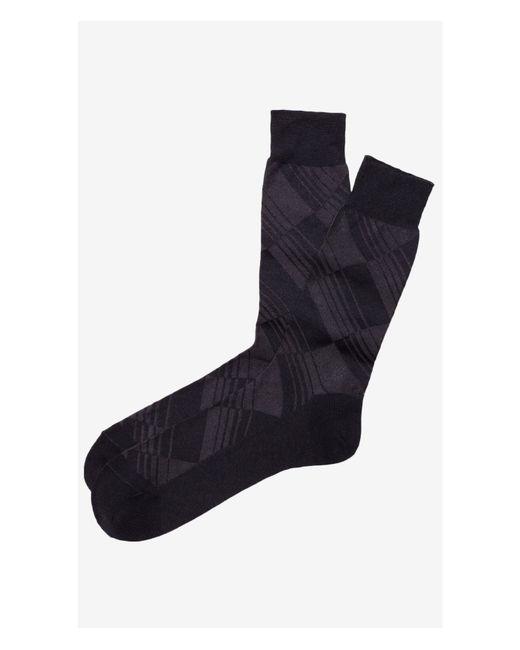 Express | Black Tonal Striped Diamond Dress Socks for Men | Lyst