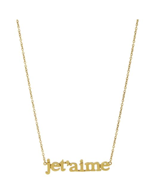 Jennifer Meyer | Metallic je T'aime Pendant Necklace | Lyst