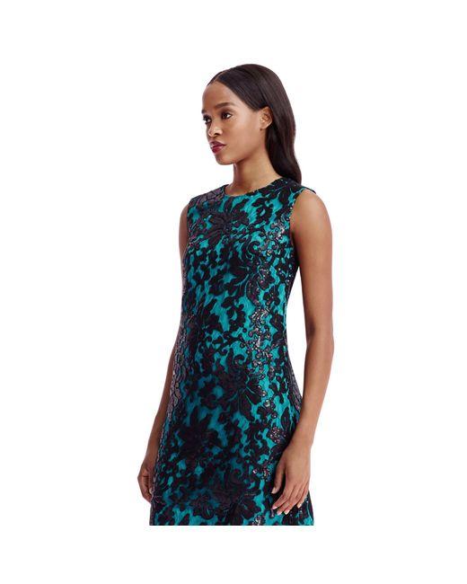 Diane von Furstenberg | Blue Dvf Kaleb Embellished Lace Shift Dress | Lyst