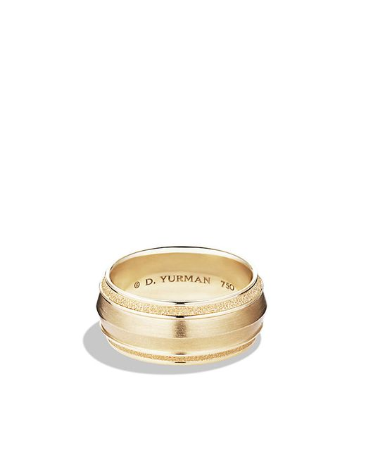 David Yurman | Metallic Knife Edge Band Ring In 18k Gold, 10mm for Men | Lyst
