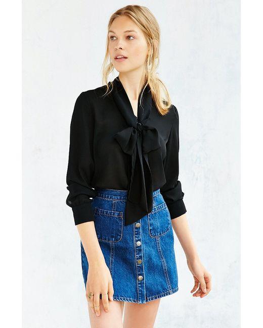 BDG | Blue Denim Button-front Skirt | Lyst