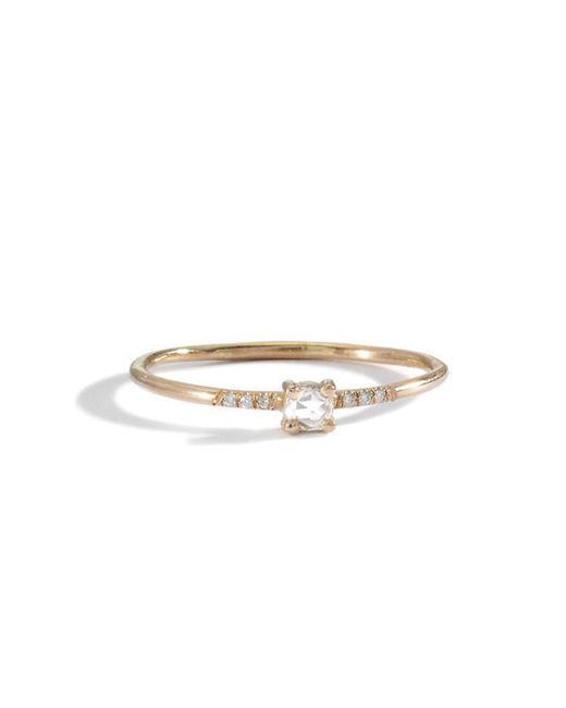 Blanca Monros Gomez | Yellow 18k Pronged Ring | Lyst