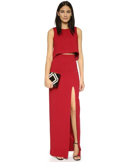 Black Halo | Red Kacie 2 Piece Maxi Dress | Lyst
