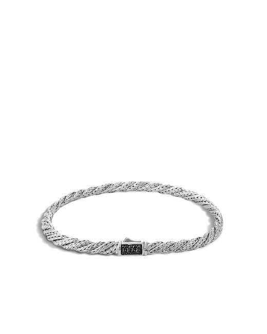 John Hardy | Metallic Twisted Chain Bracelet With Black Sapphire | Lyst