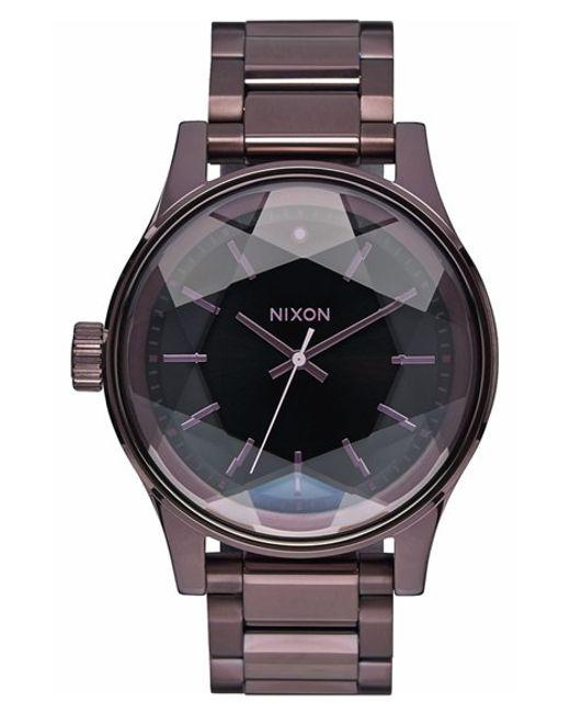 Watch Links Nixon Purple: Nixon 'the Facet' Bracelet Watch In Purple (PLUM/ BLACK
