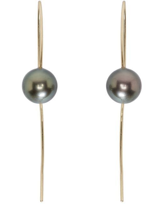 Pearls Before Swine | Metallic Tahitian Pearl Wire Drop Earrings | Lyst
